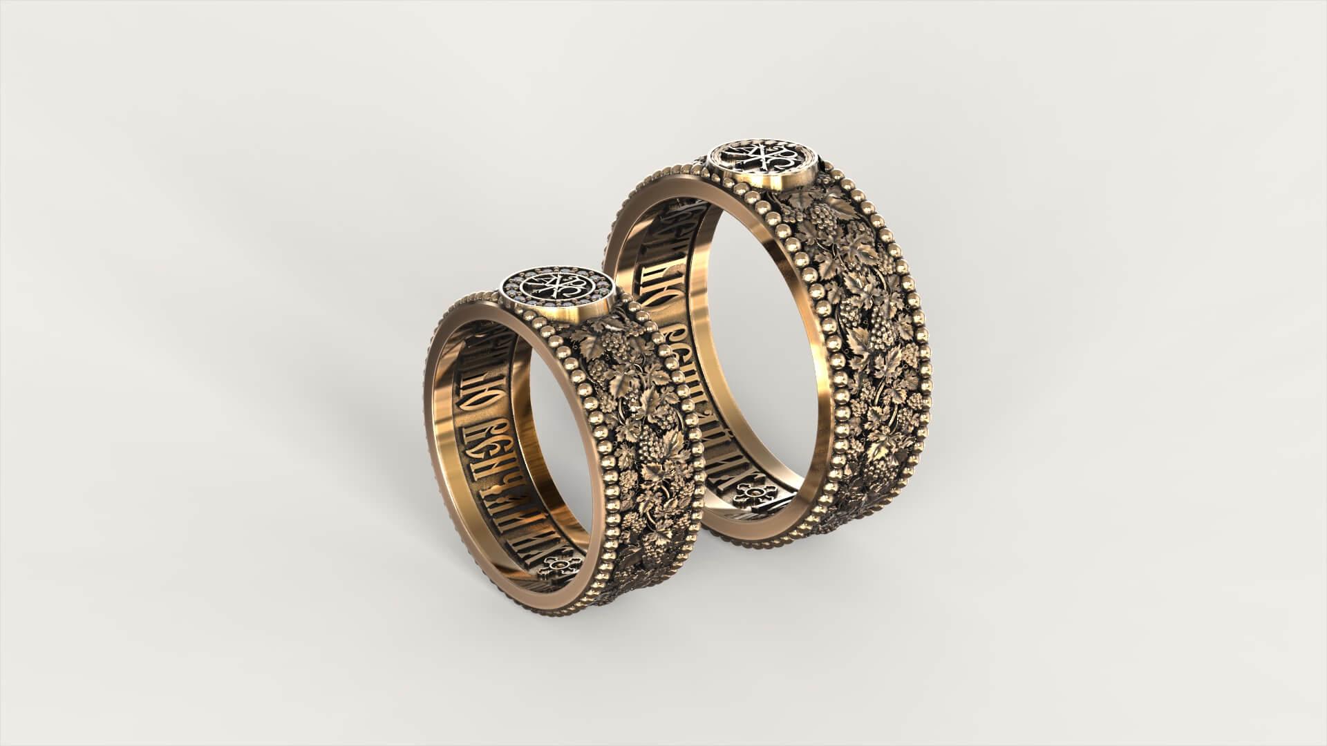 Венчальные кольца «Ампелопсис»