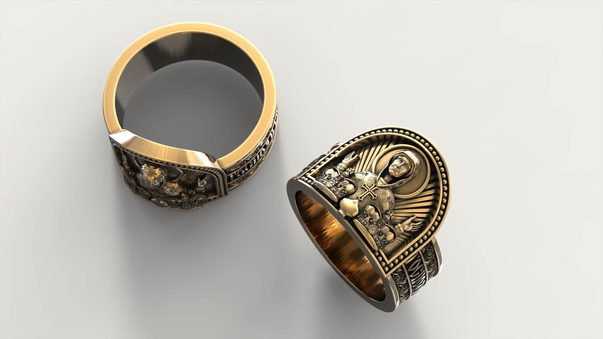 Венчальный перстень «Святая Матрона»